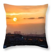 West Bound Trains Throw Pillow