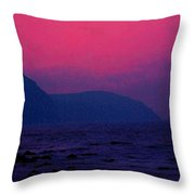 West Coast Newfoundland Sunrise Throw Pillow