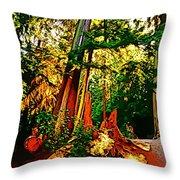 West Coast Rainforest Throw Pillow