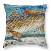 West Coast Red Throw Pillow by Carey Chen