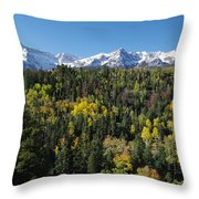 West End Of The Sneffles Throw Pillow