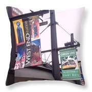 West End Station Dallas Dart Rail Throw Pillow by Donna Wilson