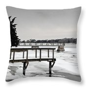 West Falmouth Harbor 2 Throw Pillow