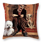 West Highland White Terrier Art Canvas Print - A Dogs Life Movie Poster Throw Pillow