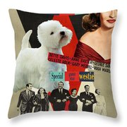West Highland White Terrier Art Canvas Print - All About Eve Movie Poster Throw Pillow