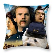 West Highland White Terrier Art Canvas Print - Dances With Wolves Movie Poster Throw Pillow