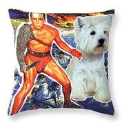 West Highland White Terrier Art Canvas Print - Spartacus Movie Poster Throw Pillow
