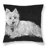 West Highland White Terrier Throw Pillow