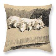 West Highlander, 1930 Throw Pillow