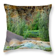 West Maui Volcanic Lava Cliffs Throw Pillow