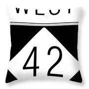 West Nc 42 Throw Pillow