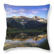 West Needle Mountains Reflected In  Pond Throw Pillow