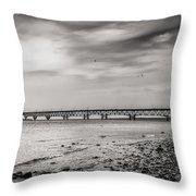 West Of Mackinac Bridge Throw Pillow