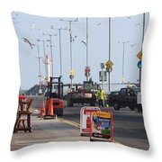 West Pier Howth Throw Pillow