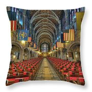 West Point Cadet Chapel Throw Pillow by Dan McManus