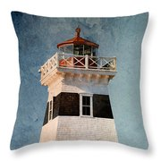 West Point Lighthouse 7 Throw Pillow