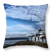 West Point Lighthouse II Throw Pillow