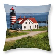 West Quaddy Lighthouse Throw Pillow
