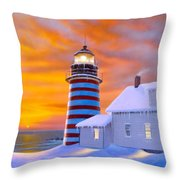 West Quoddy Throw Pillow