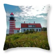 West Quoddy_5442 Throw Pillow