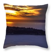West Seattle Soaring Sunset Throw Pillow