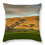 West Side Of Squaw Butte Throw Pillow