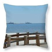 West Side Pier 1 Throw Pillow