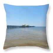 West Side Pier Throw Pillow