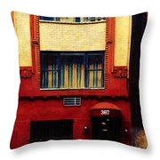 West Side Walk Up Throw Pillow