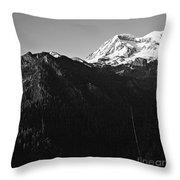 West Slope Mt. Rainier Throw Pillow