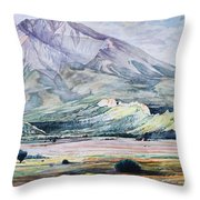 West Spanish Peak Throw Pillow