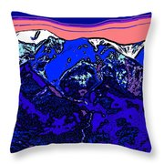 West Spanish Peak- Colorado Throw Pillow