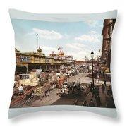 West Street New York 1901 Throw Pillow