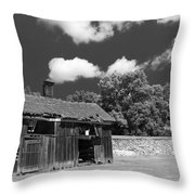 West Virginia Barn Throw Pillow