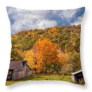 West Virginia Barns  Throw Pillow