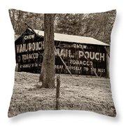 West Virginia Classic Sepia Throw Pillow