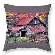 West Virginia Country Roads - Nearing The Threshold Of Yet Another Winter Throw Pillow