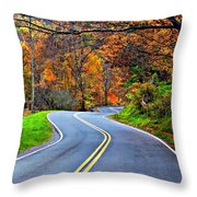 West Virginia Curves 2 Throw Pillow