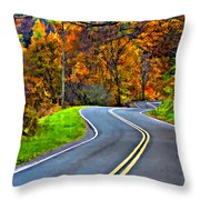 West Virginia Curves Painted Throw Pillow