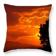 West Virginia Late Spring Sunrise Throw Pillow