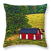West Virginia Line Art Throw Pillow