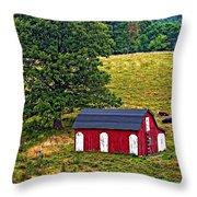 West Virginia Oil Throw Pillow