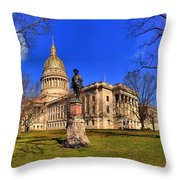 West Virginia State Capitol Building Throw Pillow