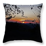 West Virginia Sunset 2 Throw Pillow