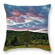 West Virginia Sunset II Throw Pillow