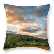 West Virginia Sunset Throw Pillow