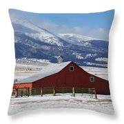 Westcliffe Landmark - The Red Barn Throw Pillow