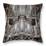 Westerkerk Organ In Amsterdam Throw Pillow