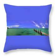 Western Australia Busselton Jetty Throw Pillow