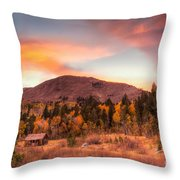 Western Barn At Sunset II Throw Pillow